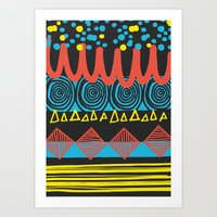 Parallel Shapes Art Print