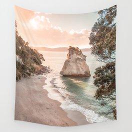 Sunset Beach, New Zealand Wall Art, Coastal Landscape, Pastel Wall Art, Boho Wall Art, Seaside Photo, Printable Art Wall Tapestry