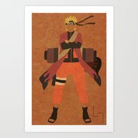 naruto Art Prints featuring Sage Naruto by JHTY