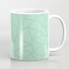 Geo Lines Mint Mug