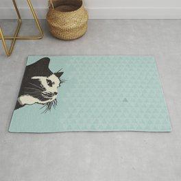 Cat on Blue - Lo Lah Studio Rug