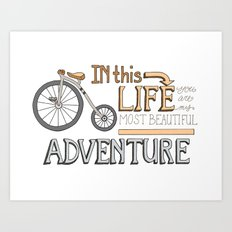 Bicycle Adventure, Romance Art Print