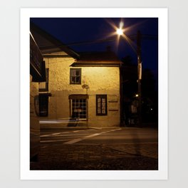 Street at Night Art Print