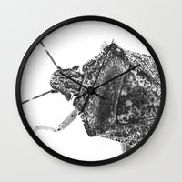 beetle Wall Clocks featuring beetle by Falko Follert Art-FF77