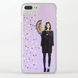 Crystal Rain Clear iPhone Case