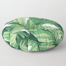 Tropical banana leaves V Floor Pillow