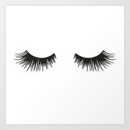 Closed Eyelashes Art Print