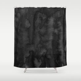Black Ink Art No 2 Shower Curtain