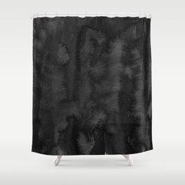 Black Ink Art No 2 Shower Curtain