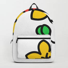 As Floral Denim Backpack