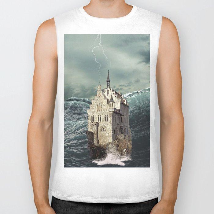 Castle in the sea 2 Biker Tank