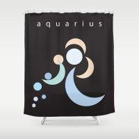 aquarius Shower Curtains featuring Aquarius by L'Épouvantail
