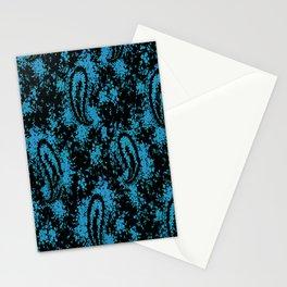denim paisley Stationery Cards