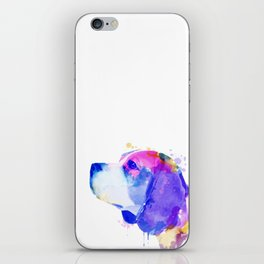 Beagle watercolor, Watercolor beagle, Watercolor dog iPhone Skin