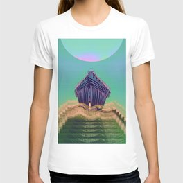 Surfing The Big Wave Searching Mermaids T-shirt