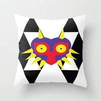 majora Throw Pillows featuring Minimalist Majora by Bradley Bailey