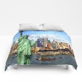 City of New York - Statue of Liberty Comforters