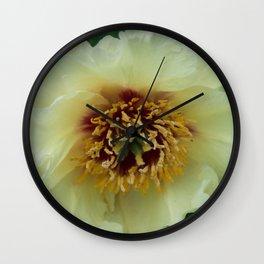Yellow Tree Peony by Teresa Thompson Wall Clock