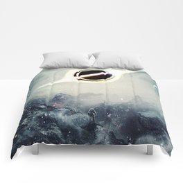 Interstellar Inspired Fictional Sci-Fi Teaser Movie Poster Comforters