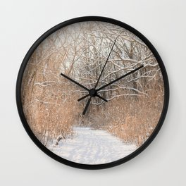 Snow Covered Trails Wall Clock