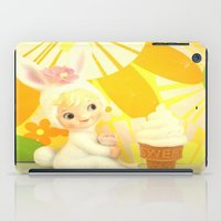 bunny iPad Cases featuring Bunny  by Vintage  Cuteness