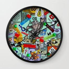 Vintage Monopoly Game Memories Wall Clock