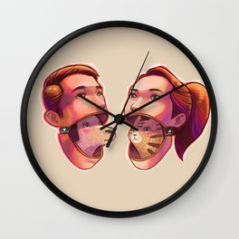 dog people vs cat people Wall Clock