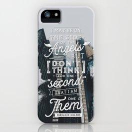 Sherlock - Angels iPhone Case