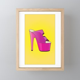 The Stunner High-Heel Stiletto Framed Mini Art Print