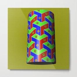 cylinder boxes Metal Print