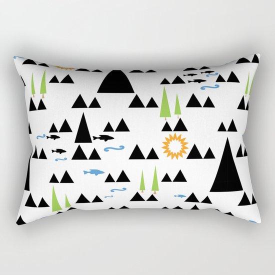 Ethnic simple pattern . Rectangular Pillow