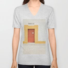 Seville XI [ Andalusia, Spain ] Red and Yellow Door⎪Colorful travel photography Poster Unisex V-Neck