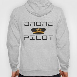 Funny Drone Quad-copter Pilot design With Captain Hat Tee Hoody
