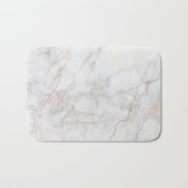 White Marble 004 Bath Mat