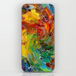 Upright Stained Twist iPhone Skin