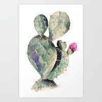 cactus Art Prints featuring CACTUS by Annet Weelink Design