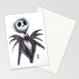 Jack Skellington scribble Stationery Cards