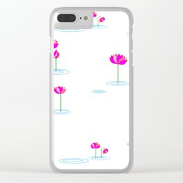 Water Lilies in Pink Clear iPhone Case