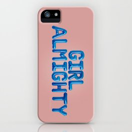 Girl Almighty iPhone Case