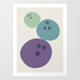 Abstract No.15 Bowling Balls Art Print