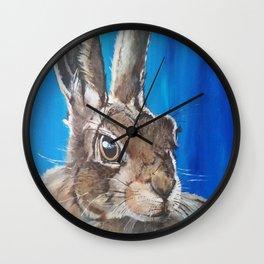 Wild hare Wall Clock
