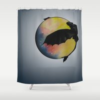toothless Shower Curtains featuring Toothless by Emilee's Fine Art
