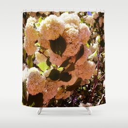 Yellow-Pink Sowballs Shower Curtain