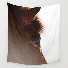 horse portrait Wall Tapestry
