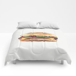 Color pencil Hamburger Comforters