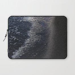 Ocean Waters on Black Sand Beach Fine Art Photo Laptop Sleeve