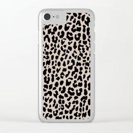 Tan Leopard Clear iPhone Case