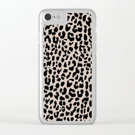 Tan Leopard Clear iPhone Case