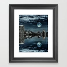 Night in the Reflection Framed Art Print
