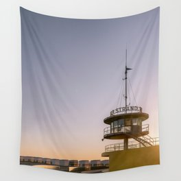 Lifeguard station at the beach of knokke-heist, Belgium | fine art travel photography print Wall Tapestry